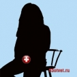 силуэт девушки сидящей на стуле
